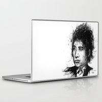 bob dylan Laptop & iPad Skins featuring Bob Dylan by Nour Shalabi