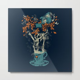 Tea House Metal Print
