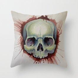 Murder Skull  Throw Pillow