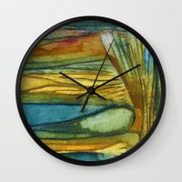 swimming Wall Clocks featuring Swimming by Mary Ross: mary made