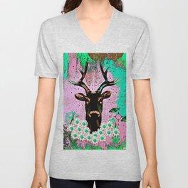Deer Abstract Unisex V-Neck