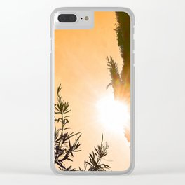 """Backyard #17"" with poem: 2 Points Starboard Clear iPhone Case"
