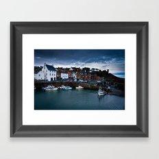 Fishing Harbor Framed Art Print