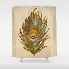 peacock feather-eye Shower Curtain