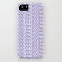 Lilac Abstract Fish Net Loop Pattern iPhone Case