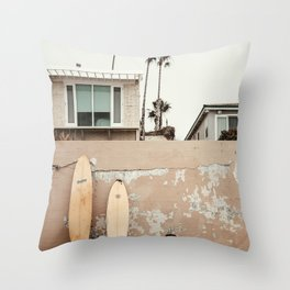 San Diego Surfing Throw Pillow