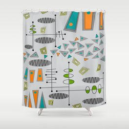 Balancing Triangles Shower Curtain