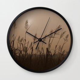 Fog Marsh Sunrise Wall Clock