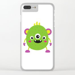 A litle green montr Clear iPhone Case