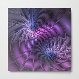 Fractal A Moment In Time Metal Print