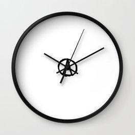 Symbol of anarchy bw Wall Clock