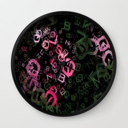 Pink Roses in Anzures 1 Letters 3 Wall Clock
