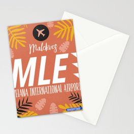 MLE Male Maldives airport code Stationery Cards