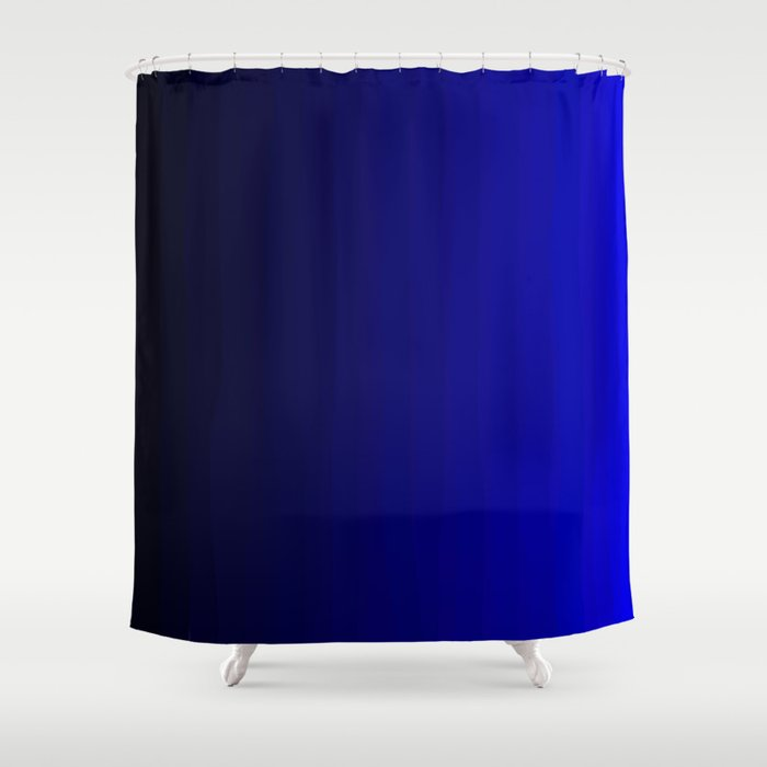 Rich Vibrant Indigo Blue Gradient Shower Curtain