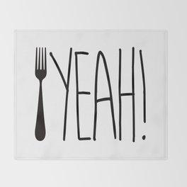 Fork Yeah! Throw Blanket