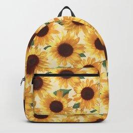 Happy Yellow Sunflowers Backpack