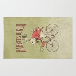Rabbits Biker Club Rug