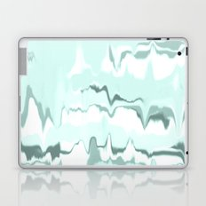 Marbled in mint Laptop & iPad Skin