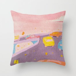 Butterfly Freeway Throw Pillow