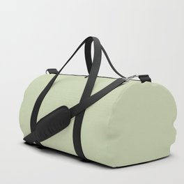 Plain Solid Color Seafoam Green Duffle Bag
