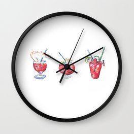 Three is a Crowd Wall Clock
