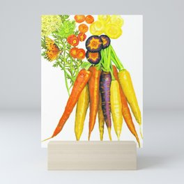Carrots and Their Blossoms Mini Art Print