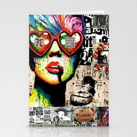 punk rock Stationery Cards featuring Punk Rock poster by Mira C