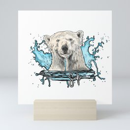 Polar bear Mini Art Print