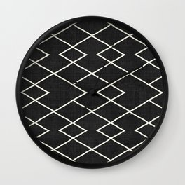 Cliff in Black and White Wall Clock