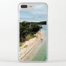 Tropical Beach Vibes in Fiji Islands Clear iPhone Case