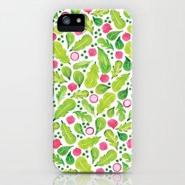 Green Salad pattern iPhone Case