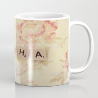 aloha Mugs featuring Aloha by Christine Hall