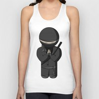 bow Tank Tops featuring Ninja Bow by Shyam13