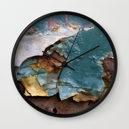 Teal Peel II Wall Clock