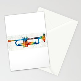Colorful Trumpet Art Color Fusion By Sharon Cummings Stationery Cards