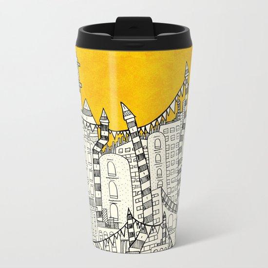 Big Sun Small City Metal Travel Mug