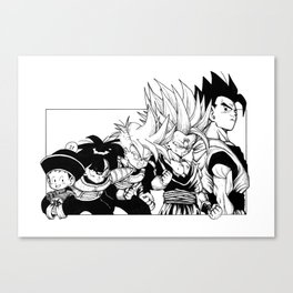 Saiyajin Heroes - Gohan Canvas Print
