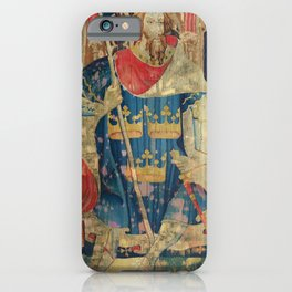 King Arthur Medieval Tapestry iPhone Case