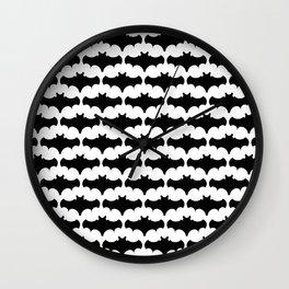 Flock of Bats Wall Clock