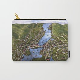MYSTIC RIVER CONNECTICUT city old map Father Day art print Carry-All Pouch