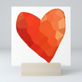 A Single Red Heart Mini Art Print