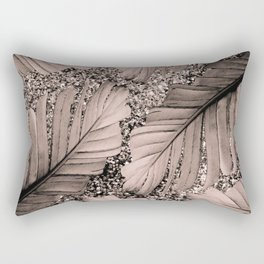 Banana Leaves Glitter Glam #3 #shiny #tropical #decor #art #society6 Rectangular Pillow