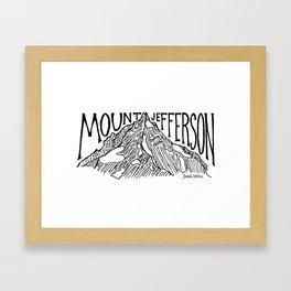 Mount Jefferson Framed Art Print