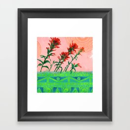 Sun Circles Framed Art Print