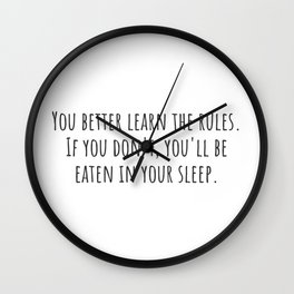 Learn the Rules Wall Clock