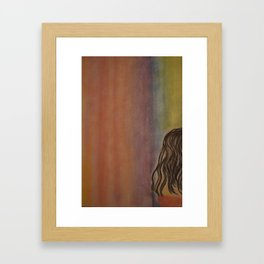 Alone with the Color Framed Art Print