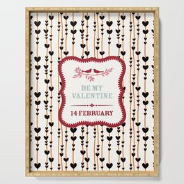 Be My Valentine Serving Tray