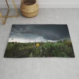 Stormflower - Sunflower and Storm in Texas Rug