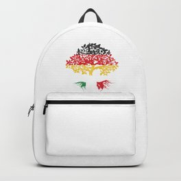 Germany Italy Tree Flag Europe European Country Patriotism Backpack