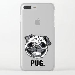 PUG. Clear iPhone Case